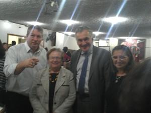 Vereador Edson Cury (1º esq), dep. fed. Luiza Erundina, sec. mun. de Cultura de SP, Juca Ferreira e Tonha