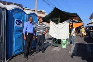 Por sugestão de Tonho, feiras livres oferecem banheiros químicos