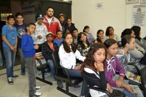 Alunos da Escola Estadual Prefeito Tácito Zanchetta visitam a Câmara Municipal