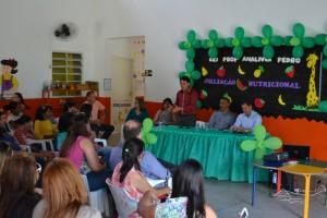 Fabinho participa do lançamento de projeto nutricional em creche