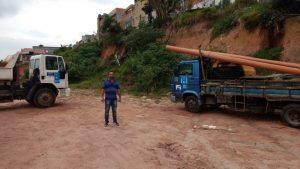 Sabesp inicia a construção de ramal coletivo de esgoto